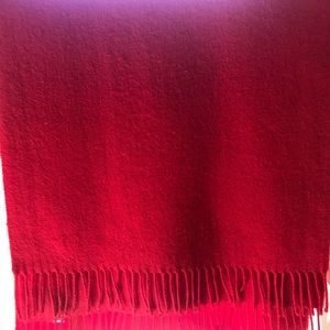 Turnbull & Abber - Bright Red cashmere Scarf 🧣